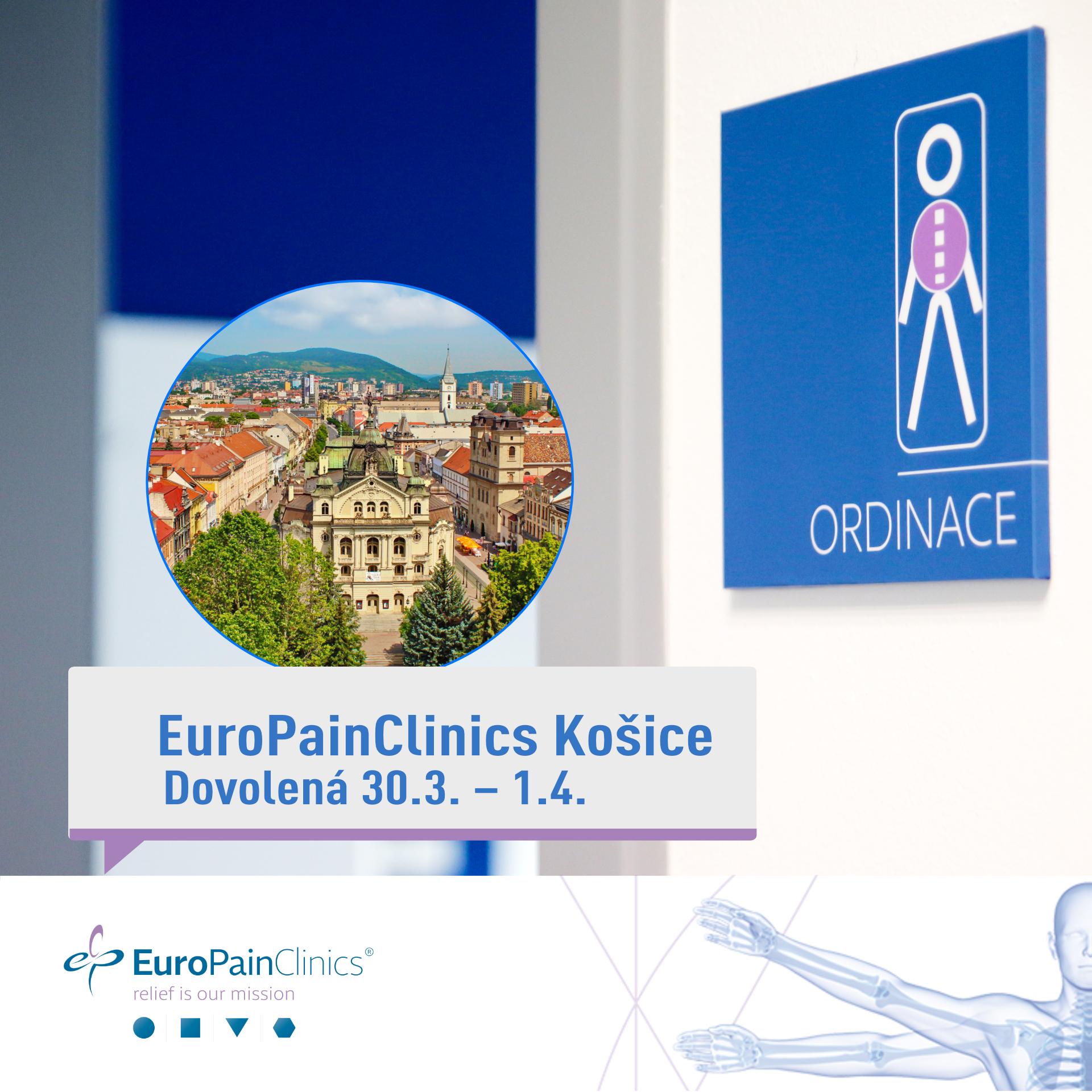 EuroPainClinics Košice – dovolenka