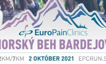 EuroPainClinics Horský beh Bardejov 2. 10. 2021